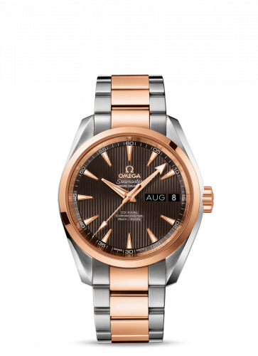 231.20.39.22.06.001 : Omega Seamaster Aqua Terra 150M Co-Axial 38.5 Annual Calendar Stainless Steel / Red Gold / Grey / Bracelet