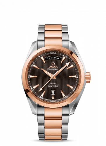 231.20.42.22.06.001 : Omega Seamaster Aqua Terra 150m Co-Axial 41.5 Day-Date Stainless Steel / Red Gold / Grey / Bracelet