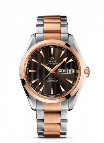 231.20.43.22.06.001 : Omega Seamaster Aqua Terra 150M Co-Axial 43 Annual Calendar Stainless Steel / Red Gold / Grey / Bracelet
