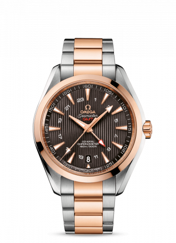 231.20.43.22.06.003 : Omega Seamaster Aqua Terra 150M Co-Axial 43 GMT Stainless Steel / Red Gold / Grey / Bracelet