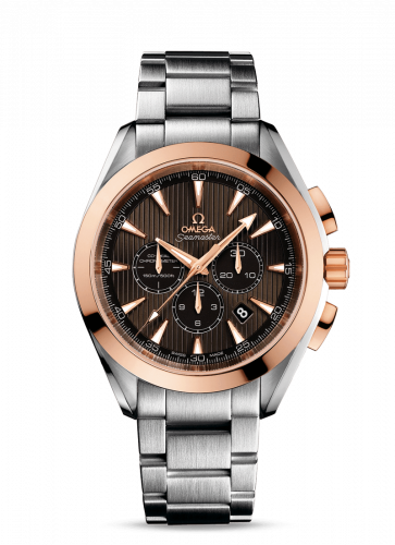 231.20.44.50.06.002 : Omega Seamaster Aqua Terra 150M Co-Axial 44 Chronograph Stainless Steel / Red Gold / Grey / Bracelet