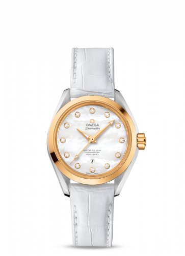 231.23.34.20.55.002 : Omega Seamaster Aqua Terra 150M Master Co-Axial 34 Stainless Steel / Yellow Gold / MOP