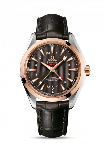 231.23.43.22.06.001 : Omega Seamaster Aqua Terra 150M Co-Axial 43 GMT Stainless Steel / Red Gold / Grey