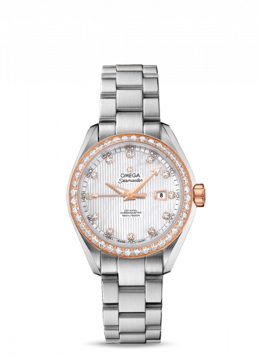 231.25.34.20.55.003 : Omega Seamaster Aqua Terra 150M Co-Axial 34 Stainless Steel / Red Gold / Diamond / MOP / Bracelet