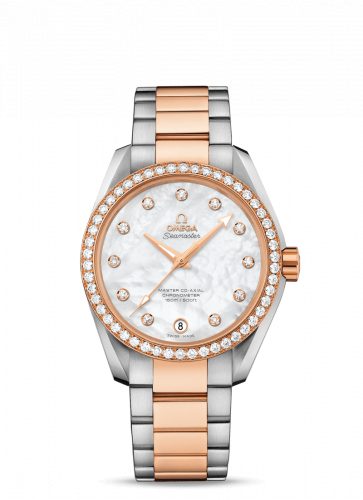 231.25.39.21.55.001 : Omega Seamaster Aqua Terra 150M Master Co-Axial 38.5 Stainless Steel / Red Gold / Diamond / MOP / Bracelet