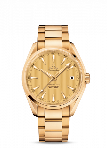 Omega 231.50.42.21.08.001 : Seamaster Aqua Terra 150m Master Co-Axial 41.5 Yellow Gold / Champagne / Bracelet