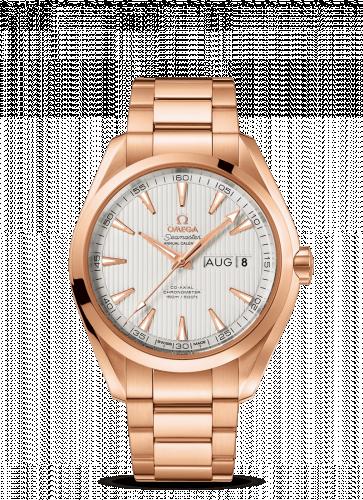 231.50.43.22.02.002 : Omega Seamaster Aqua Terra 150M Co-Axial 43 Annual Calendar Red Gold / Silver / Bracelet