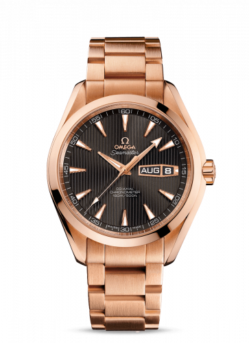 231.50.43.22.06.001 : Omega Seamaster Aqua Terra 150m Co-Axial 43 Annual Calendar Red Gold / Grey / Bracelet