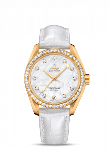 231.58.39.21.55.002 : Omega Seamaster Aqua Terra 150M Master Co-Axial 38.5 Yellow Gold / Diamond / MOP