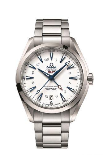231.90.43.22.04.001 : Omega Seamaster Aqua Terra 150M Co-Axial 43 GMT Titanium / White / Bracelet / GoodPlanet