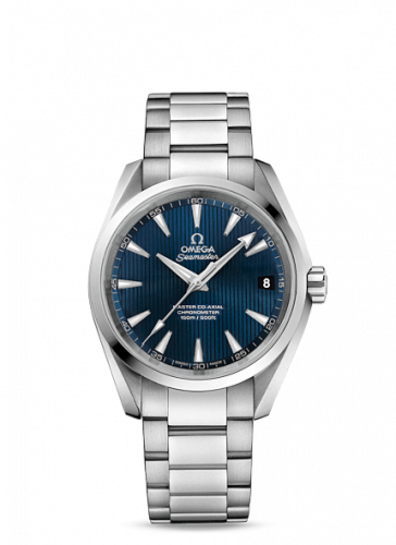 231.10.39.21.03.002 : Omega Seamaster Aqua Terra 150M Master Co-Axial 38.5 Stainless Steel / Blue / Bracelet