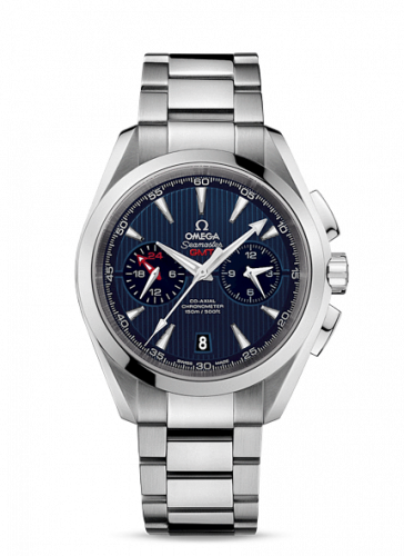 231.10.43.52.03.001 : Omega Seamaster Aqua Terra 150M Co-Axial 43 GMT Chronograph Stainless Steel / Blue / Bracelet