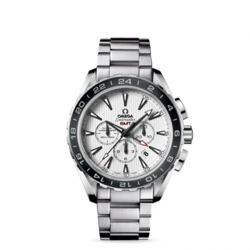 231.10.44.52.04.001 : Omega Seamaster Aqua Terra 150M Co-Axial 44 GMT Chronograph Stainless Steel / Silver / Bracelet