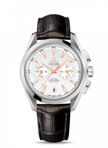 231.13.43.52.02.001 : Omega Seamaster Aqua Terra 150M Co-Axial 43 GMT Chronograph Stainless Steel / Silver