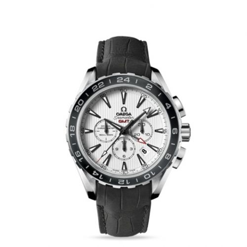 231.13.44.52.04.001 : Omega Seamaster Aqua Terra 150M Co-Axial 44 GMT Chronograph Stainless Steel / Silver