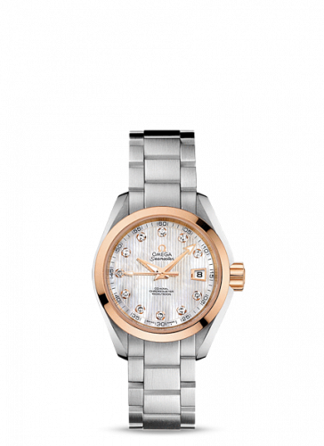 231.20.30.20.55.003 : Omega Seamaster Aqua Terra 150M Co-Axial 30 Stainless Steel / Red Gold / MOP / Bracelet