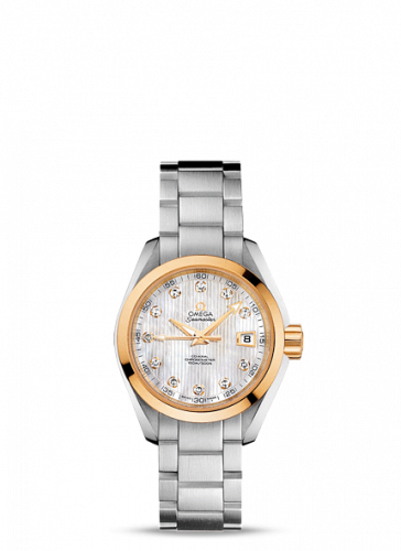 231.20.30.20.55.004 : Omega Seamaster Aqua Terra 150M Co-Axial 30 Stainless Steel / Yellow Gold / MOP / Bracelet