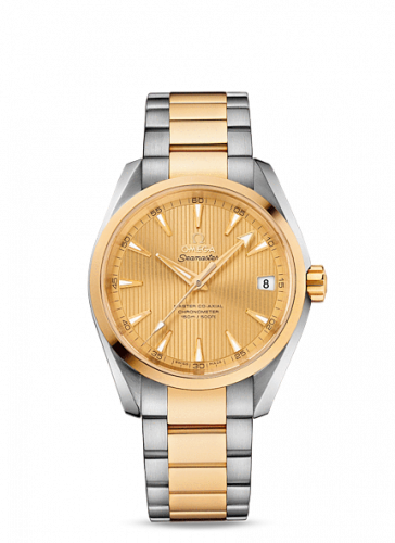 231.20.39.21.08.001 : Omega Seamaster Aqua Terra 150M Master Co-Axial 38.5 Stainless Steel / Yellow Gold / Champagne