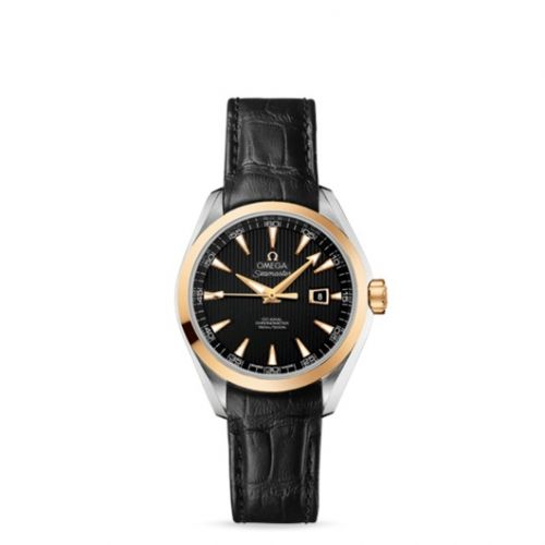 231.23.34.20.01.001 : Omega Seamaster Aqua Terra 150M Co-Axial 34 Stainless Steel / Yellow Gold / Black