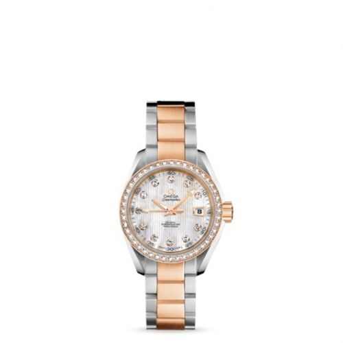 231.25.30.20.55.001 : Omega Seamaster Aqua Terra 150M Co-Axial 30 Stainless Steel / Red Gold / Diamond / MOP / Bracelet