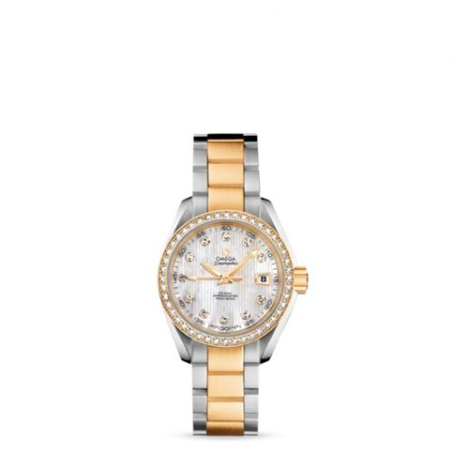 231.25.30.20.55.002 : Omega Seamaster Aqua Terra 150M Co-Axial 30 Stainless Steel / Yellow Gold / Diamond / MOP / Bracelet