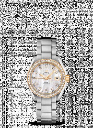 231.25.30.20.55.004 : Omega Seamaster Aqua Terra 150M Co-Axial 30 Stainless Steel / Yellow Gold / Diamond / MOP / Bracelet