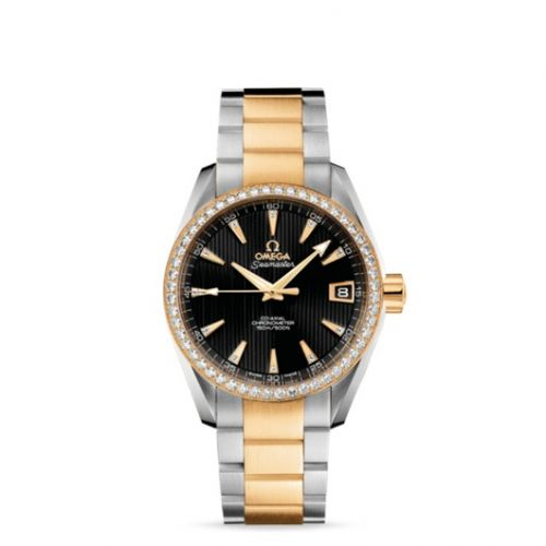 231.25.39.21.51.002 : Omega Seamaster Aqua Terra 150M Co-Axial 38.5 Stainless Steel / Yellow Gold / Diamond / Black / Bracelet