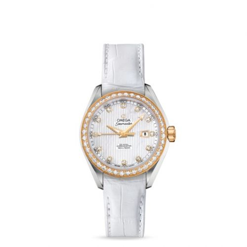 231.28.34.20.55.001 : Omega Seamaster Aqua Terra 150M Co-Axial 34 Stainless Steel / Yellow Gold / Diamond / MOP