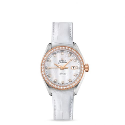 231.28.34.20.55.002 : Omega Seamaster Aqua Terra 150M Co-Axial 34 Stainless Steel / Red Gold / Diamond / MOP