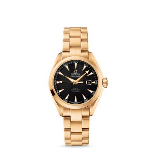 231.50.34.20.01.001 : Omega Seamaster Aqua Terra 150M Co-Axial 34 Yellow Gold / Black / Bracelet