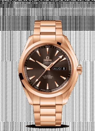 231.50.43.22.06.003 : Omega Seamaster Aqua Terra 150M Co-Axial 43 Annual Calendar Red Gold / Grey / Bracelet