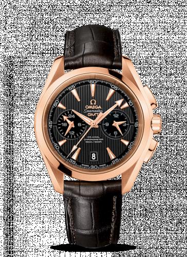 231.53.43.52.06.001 : Omega Seamaster Aqua Terra 150M Co-Axial 43 GMT Chronograph Red Gold / Grey