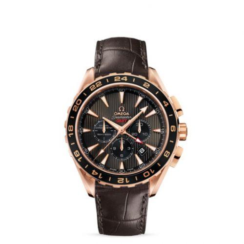231.53.44.52.06.001 : Omega Seamaster Aqua Terra 150M Co-Axial 44 GMT Chronograph Red Gold / Grey