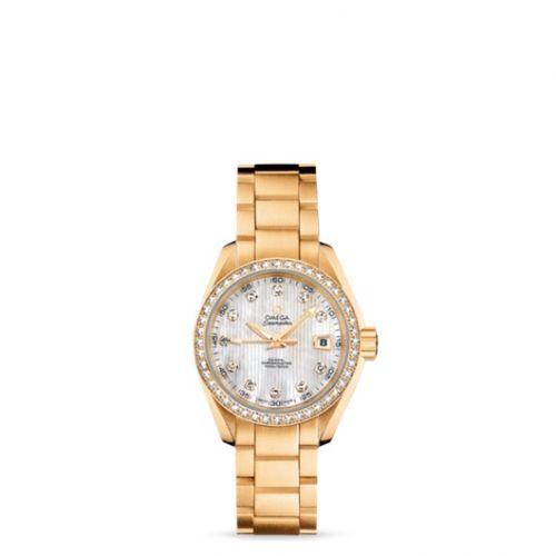 231.55.30.20.55.002 : Omega Seamaster Aqua Terra 150M Co-Axial 30 Yellow Gold / Diamond / MOP / Bracelet