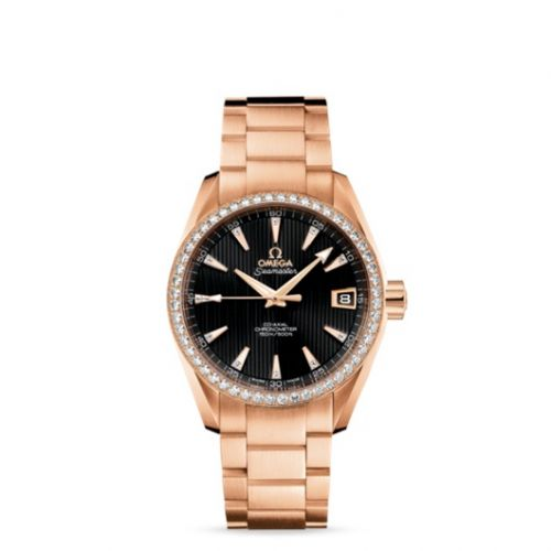 231.55.39.21.51.001 : Omega Seamaster Aqua Terra 150M Co-Axial 38.5 Red Gold / Diamond / Black / Bracelet