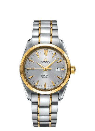 2318.30.00 : Omega Seamaster Aqua Terra 150M Quartz 36.2 Yellow Gold / Black