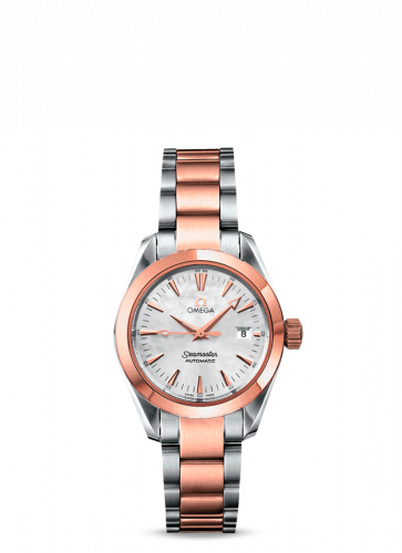 2373.70.00 : Omega Seamaster Aqua Terra 150M Automatic 29.2 Stainless Steel / Red Gold / MOP  / Bracelet