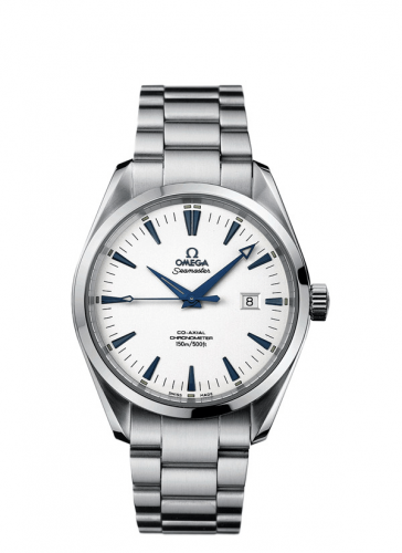 2502.33.00  : Omega Seamaster Aqua Terra 150M Co-Axial 42.2 Stainless Steel / White / Bracelet