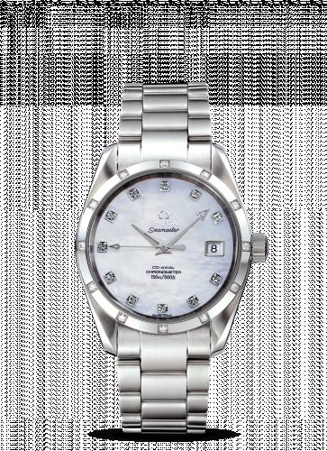 2505.75.00 : Omega Seamaster Aqua Terra 150M Co-Axial 36.2 Stainless Steel / Diamond / MOP / Bracelet