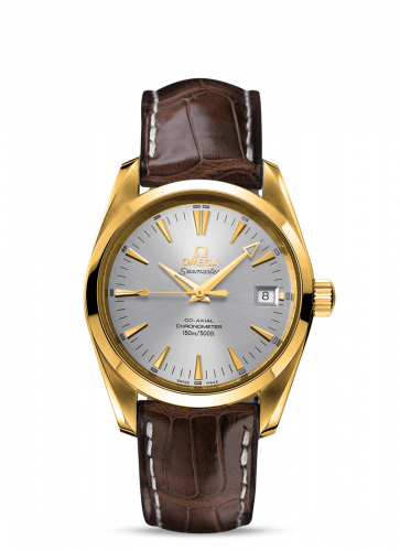 2603.30.37 : Omega Seamaster Aqua Terra 150M Co-Axial 39.2 Yellow Gold / Silver