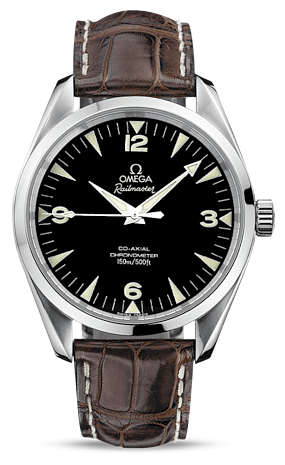 Omega 2803.52.37 : Seamaster Aqua Terra 150M Co-Axial 39.2 Railmaster / Brown Alligator