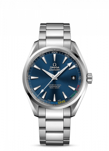 522.10.42.21.03.001 : Omega Seamaster Aqua Terra 150m Master Co-Axial 41.5 Stainless Steel / Blue / Bracelet / Olympic Collection PyeongChang 2018