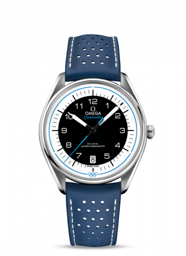 Omega 522.32.40.20.01.001 : Seamaster Master Co-Axial 39.5 Olympic Timekeeper Stainless Steel / Black / Blue