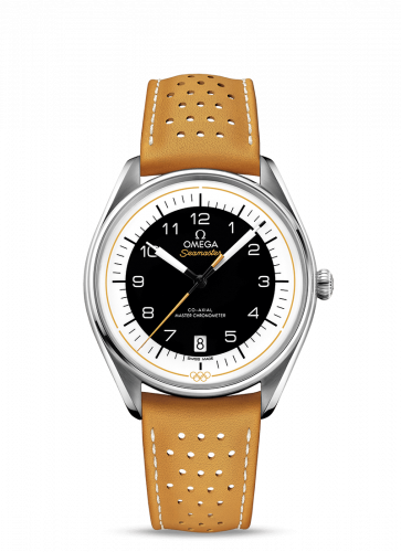 Omega 522.32.40.20.01.002 : Seamaster Master Co-Axial 39.5 Olympic Timekeeper Stainless Steel / Black / Yellow