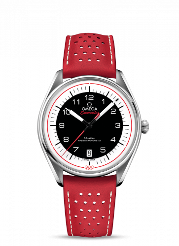Omega 522.32.40.20.01.004 : Seamaster Master Co-Axial 39.5 Olympic Timekeeper Stainless Steel / Black / Red