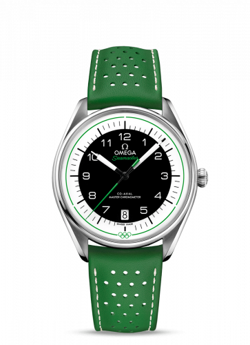 Omega 522.32.40.20.01.005 : Seamaster Master Co-Axial 39.5 Olympic Timekeeper Stainless Steel / Black / Green