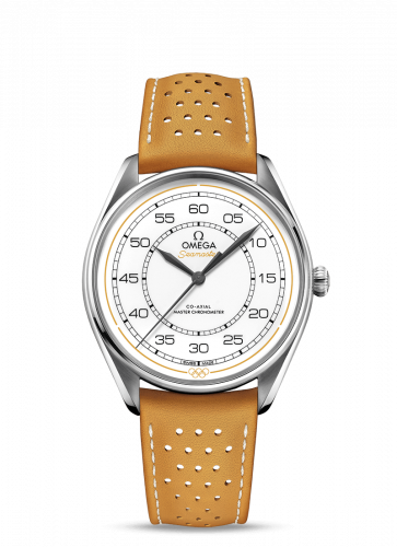 Omega 522.32.40.20.04.002 : Seamaster Master Co-Axial 39.5 Olympic Timekeeper Stainless Steel / White / Yellow