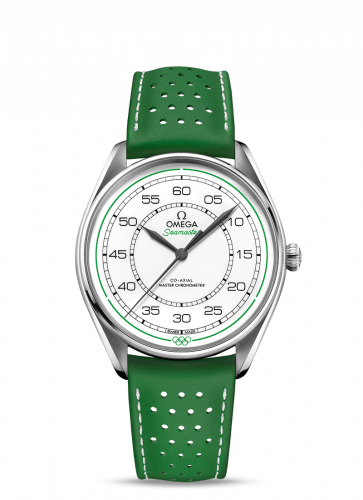 Omega 522.32.40.20.04.005 : Seamaster Master Co-Axial 39.5 Olympic Timekeeper Stainless Steel / White / Green