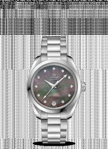 220.10.34.20.57.001 : Omega Seamaster Aqua Terra 150M Master Chronometer 34 Stainless Steel / Brown MOP / Bracelet