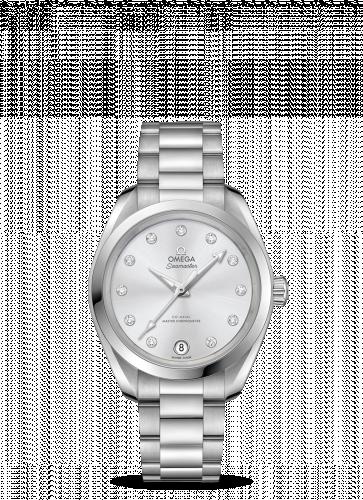 220.10.34.20.60.001 : Omega Seamaster Aqua Terra 150M Master Chronometer 34 Stainless Steel / Greige / Bracelet